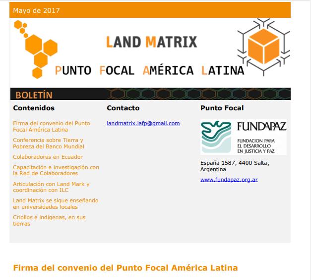 23 - Mayo 2017 Land Matrix LAFP