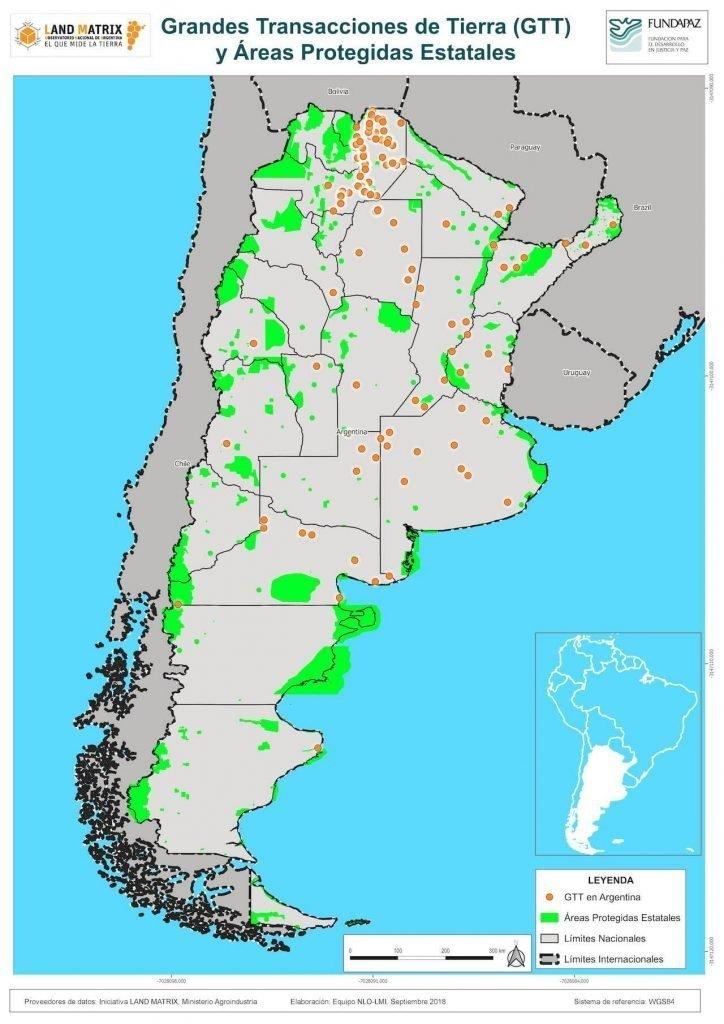 Grandes Transacciones de Tierra y áreas protegidas estatales en Argentina