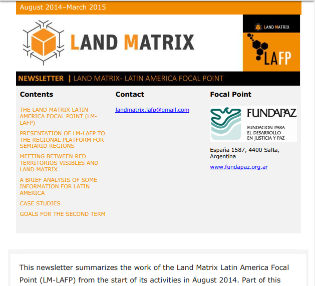 09 - Mid-term Land Matrix LAFP Newsletter